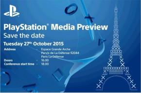 Conferência da Sony na Paris Games Week marcada para 27 deoutubro